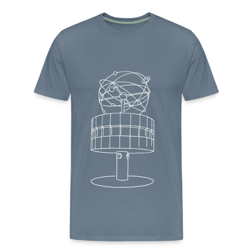 Weltzeituhr in Berlin - Männer Premium T-Shirt