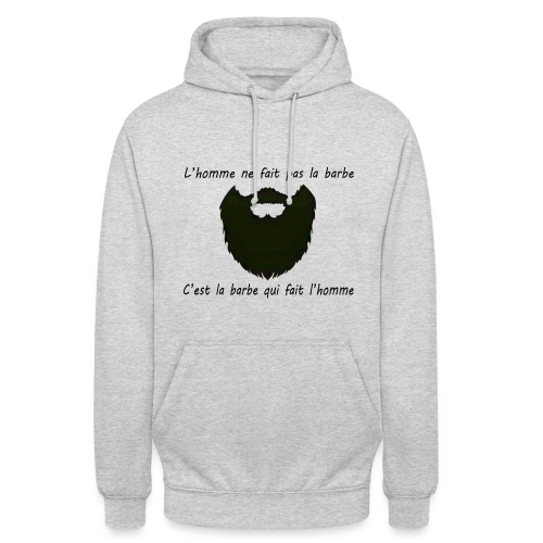 Sweat-Shirt Homme Barbe  - Sweat-shirt à capuche unisexe