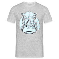 T-Shirts ~ Männer T-Shirt ~ hippo
