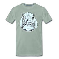 T-Shirts ~ Männer Premium T-Shirt ~ hippo