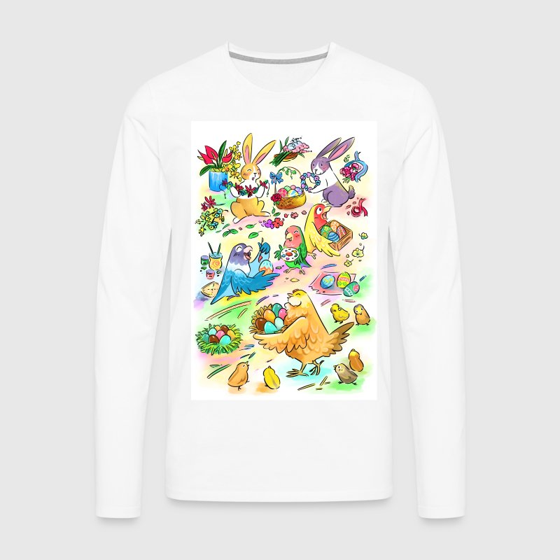 Easter egg party - Men's Premium Longsleeve Shirt