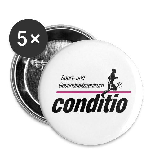 conditio Button - Buttons klein 25 mm (5er Pack)