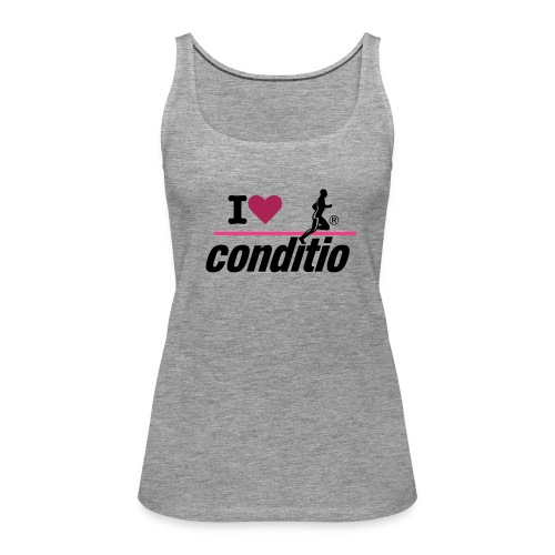 conditio Damen-Tanktop I love conditio - Frauen Premium Tank Top