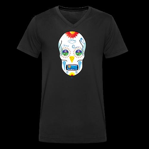 Dutch Skull - Mannen bio T-shirt met V-hals van Stanley & Stella