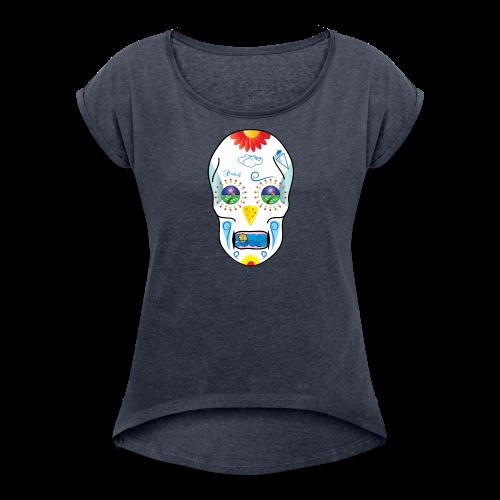 Dutch Skull - Vrouwen T-shirt met opgerolde mouwen