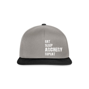 Snapback Cap - EAT SLEEP ARCHERY REPEAT - Snapback Cap
