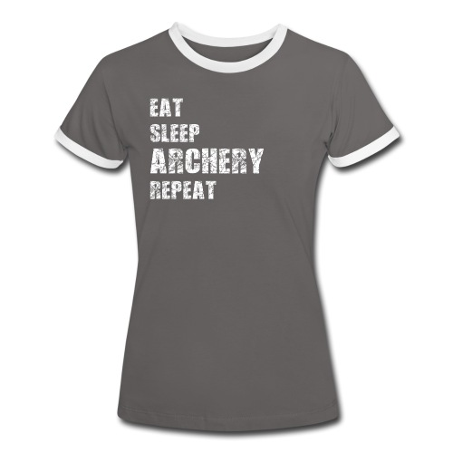 Frauen Kontrast-T-Shirt - EAT SLEEP ARCHERY REPEAT - Frauen Kontrast-T-Shirt