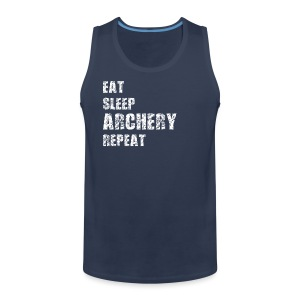 Männer Premium Tank Top - EAT SLEEP ARCHERY REPEAT - Männer Premium Tank Top