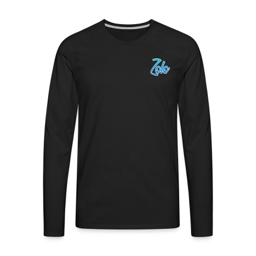 Top right clean Zolo gaming logo jumper - Men's Premium Longsleeve Shirt