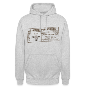vegan for animals - Unisex Hoodie