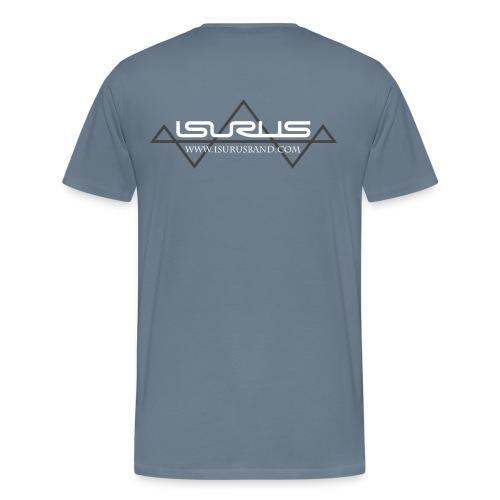 Isurus Logo & Website Back Print - Men's Premium T-Shirt