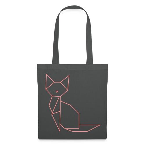 Origami Cat Bag - Stoffbeutel