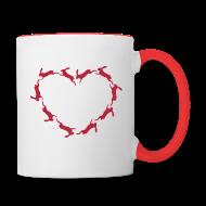 Tassen & Zubehör ~ Tasse zweifarbig ~ Hoppy Heart