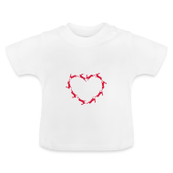 Baby T-Shirts ~ Baby T-Shirt ~ Hoppy Heart