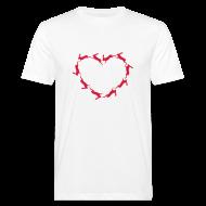 T-Shirts ~ Männer Bio-T-Shirt ~ Hoppy Heart