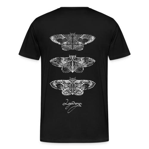 Logocharya Moth Shirt With Back Print - Men's Premium T-Shirt