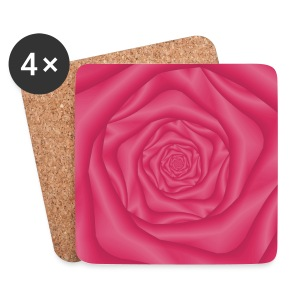 Spiral Rose in Pink - Coasters (set of 4)