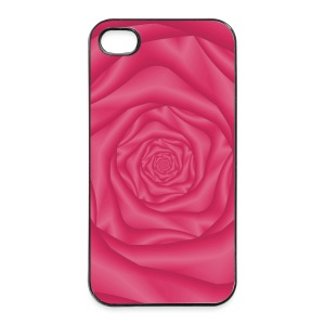 Spiral Rose in Pink - iPhone 4/4s Hard Case