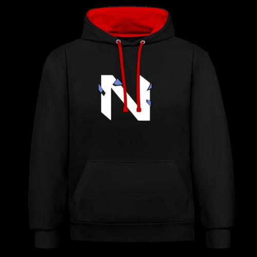 NKE ND - Hoodie (zwart/rood) - Contrast hoodie