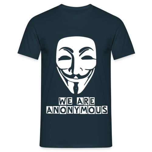 WE ARE ANONYMOUS - BLACK - Men's T-Shirt