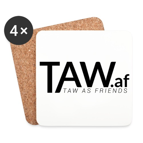 TAW.af Coasters Logo - Coasters (set of 4)