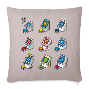 Pixelcandys - Sofa pillow cover 44 x 44 cm