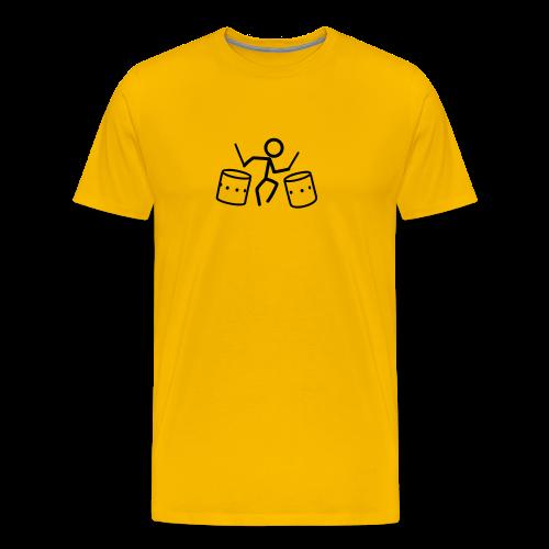 Dancing Drum-Stickmen T-Shirts - Männer Premium T-Shirt