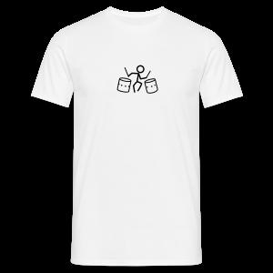 Dancing Drum-Stickmen T-Shirts - Männer T-Shirt