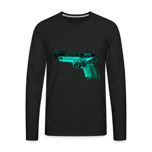 Power + Gier - Männer Premium Langarmshirt