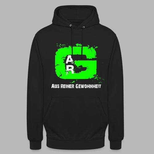 A.R.G. Kapuzenpullover in Schwarz mit Grünem Logo - Unisex Hoodie