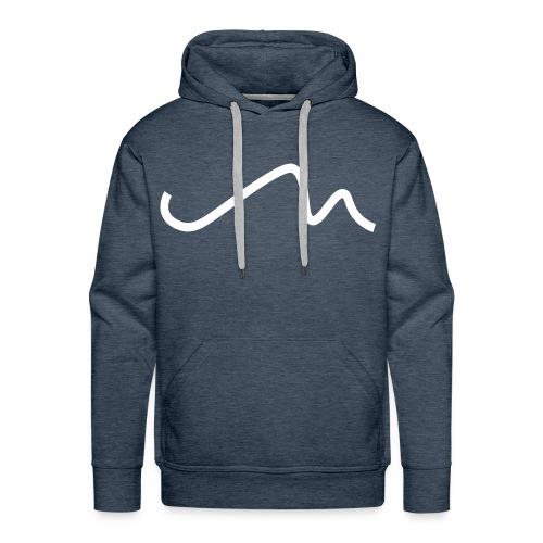 Wavy White M Signature Hoodie - Men's Premium Hoodie