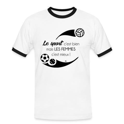T-Shirt Homme Le sport c'est bien - T-shirt contrasté Homme