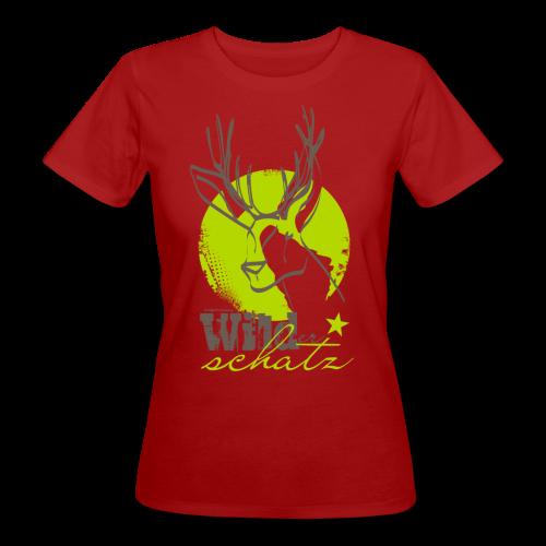 WIlder Schatz Klee - Frauen Bio-T-Shirt