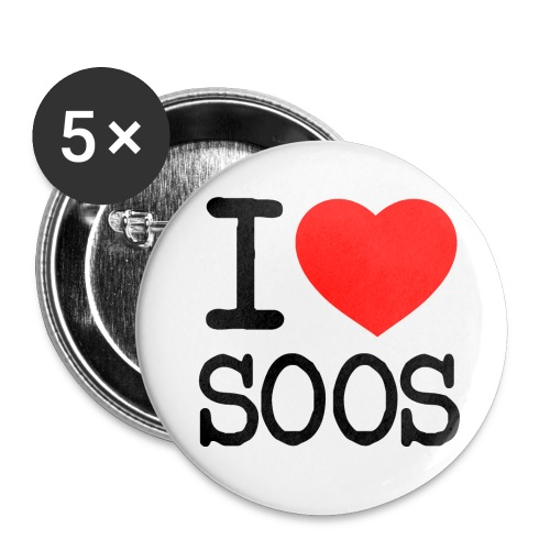 I heart SOOS Buttons - Buttons mittel 32 mm