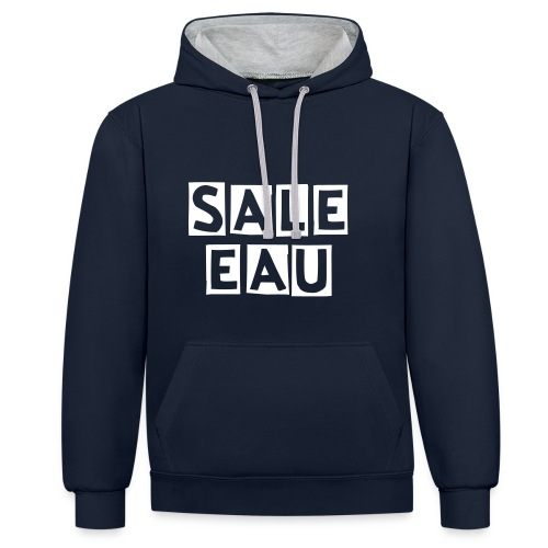 Pull Sale Eau  - Sweat-shirt contraste