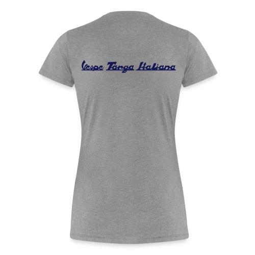 Damen T-Shirt mit Vespa Rally 200 (Druck Navy-Blau) - Frauen Premium T-Shirt