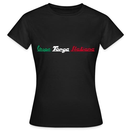Damen T-Shirt Vespe Targa Italiana - Frauen T-Shirt