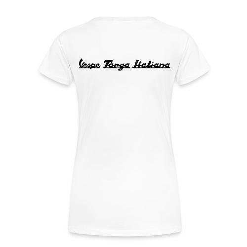 Damen T-Shirt mit Vespa Rally 200 (Druck Schwarz) - Frauen Premium T-Shirt