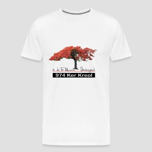 T-shirt Homme Flamboyant 974 Ker Kreol - T-shirt Premium Homme