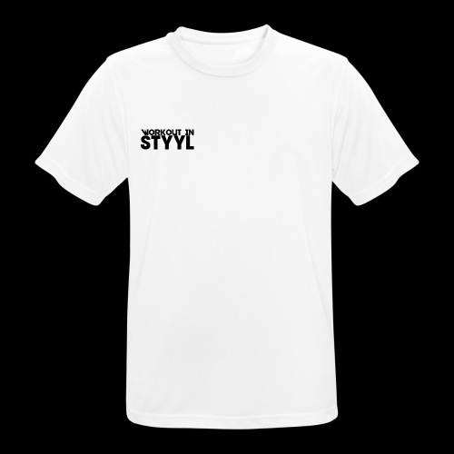 Workout In STYYL Small Logo Men's Breathable Tee - Men's Breathable T-Shirt