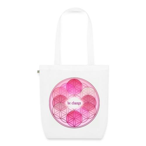 Stofftasche Blume des Lebens pink - Bio-Stoffbeutel