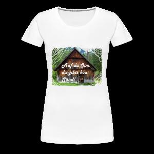 Auf da Oim da gibts koa Sünd T-Shirt Diandl - Frauen Premium T-Shirt