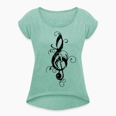 Clef, note, sheet, music, musical, notes, classic T-Shirts