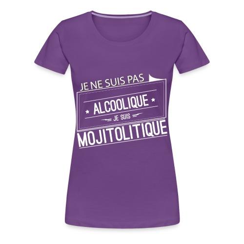 Tee Shirt Femme Violet Col Rond - je suis mojitolitique - T-shirt Premium Femme