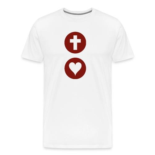 God so Loves Male T-shirt - Men's Premium T-Shirt