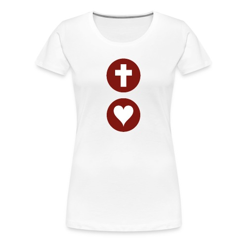 God so Loves Female T-shirt - Women's Premium T-Shirt