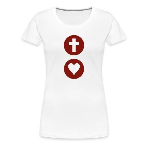 God so Loves Female T-shirt - Women's Premium T-Shirt