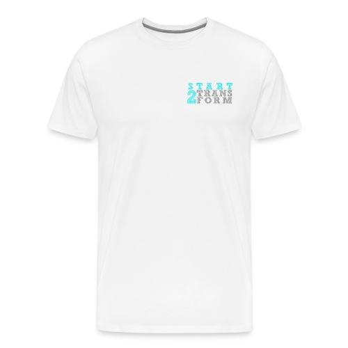 S2T Männer Premium weiss - Männer Premium T-Shirt