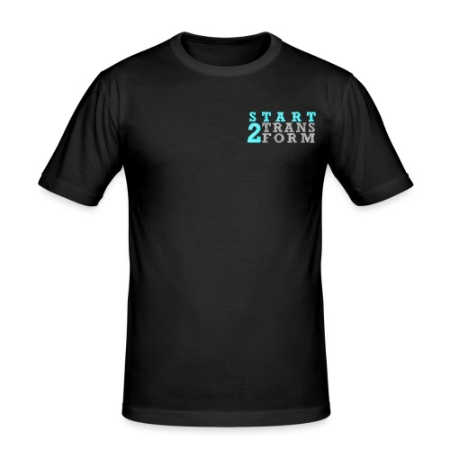 S2T Slim Fit Männer schwarz - Männer Slim Fit T-Shirt