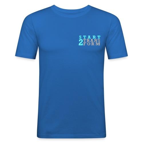 S2T Slim Fit Männer blau - Männer Slim Fit T-Shirt